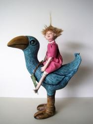 SPROUT and the Rain Forest - ooak fantasy art doll sculpture