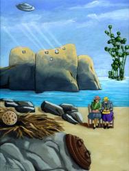 Secrets - fantasy surreal oil painting