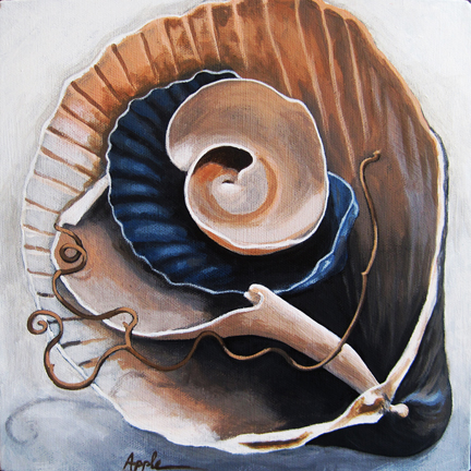 Seashells by the Seashore realistic still life