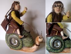 Snail Mail Express - Steampunk sculpture