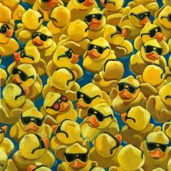 Rose Colored Glasses -Rubber Ducks