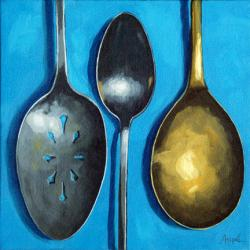 Spooning Around - antique spoons