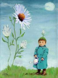Green Thumb - Figurative oil painting