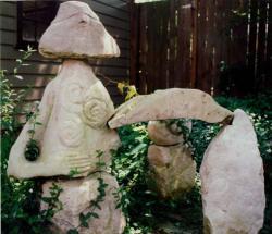 Travel- stone circle sculpture