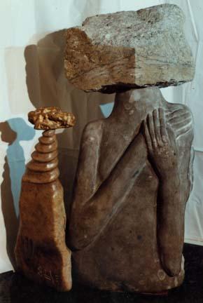 Introspection - stone circle sculpture