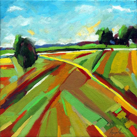 Ohio Summer Fields - Landscape oil painting