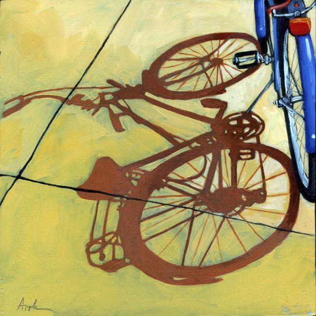 The Blues - bicycle series painting