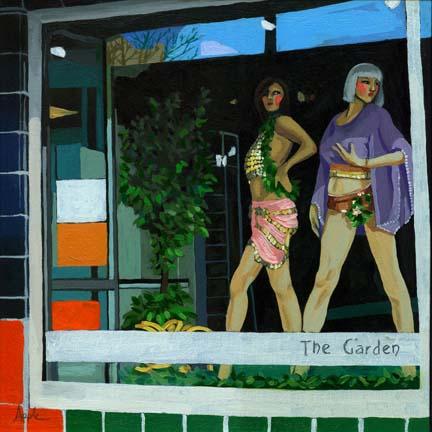 The Garden - sexy store window manikins city scene