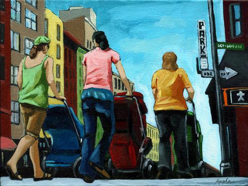 Figurative City Art - The Stroller Brigade