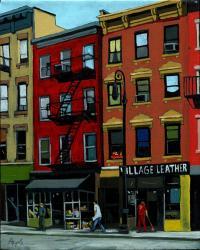 Village Leather - New York Cityscape