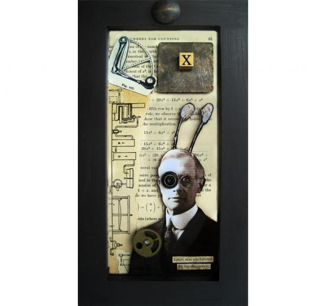"""The """"X"""" Factor - found object assemblage/ collage"""