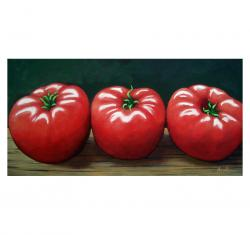 The Three Tomatoes - realistic still life food art