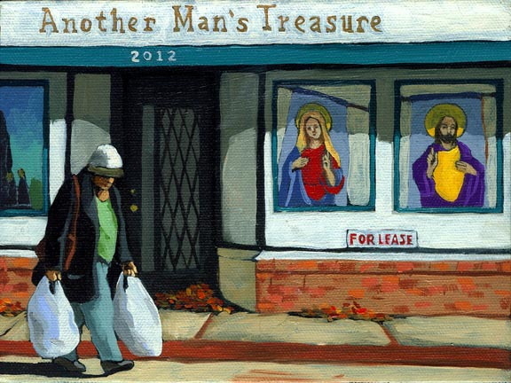 Treasures - woman on street