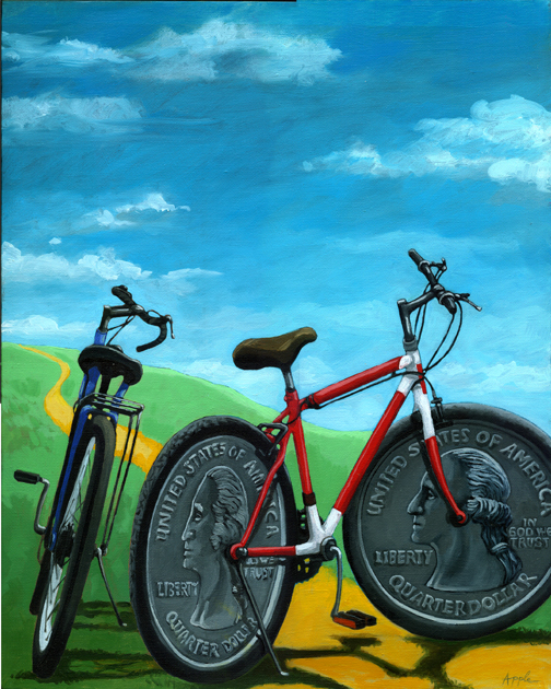 """Bicycle Art - """"Two Bits"""""""