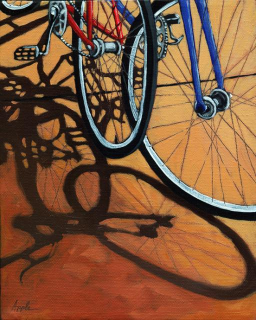 Waiting - bicycle art