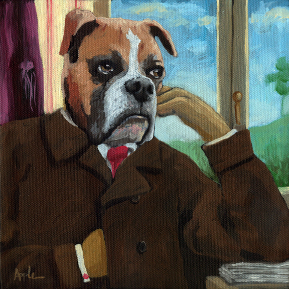 "Walt ""Wit""man - dog fantasy portrait"
