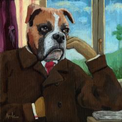 Walt &quot;Wit&quot;man - dog fantasy portrait