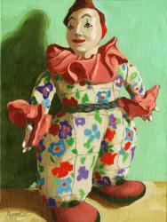 The War Clown - antique doll