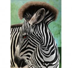 Baby Zebra realistic animal portrait from the Wilds original painting